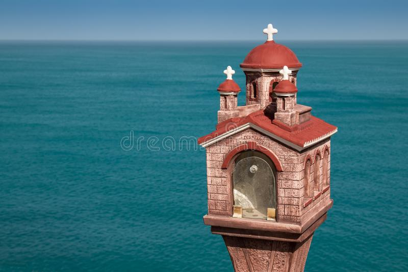 Santuário de St George e um mar fotos de stock royalty free
