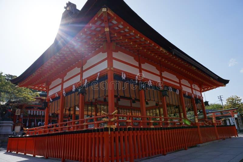 Santuário de Taisha do inari de Fushimi- foto de stock