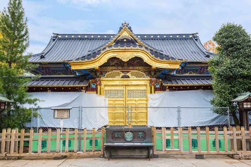 Santuário de Toshogu no parque de Ueno no Tóquio fotos de stock