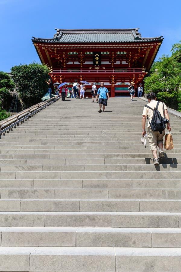 Santuário de Tsurugaoka Hachimangu fotografia de stock