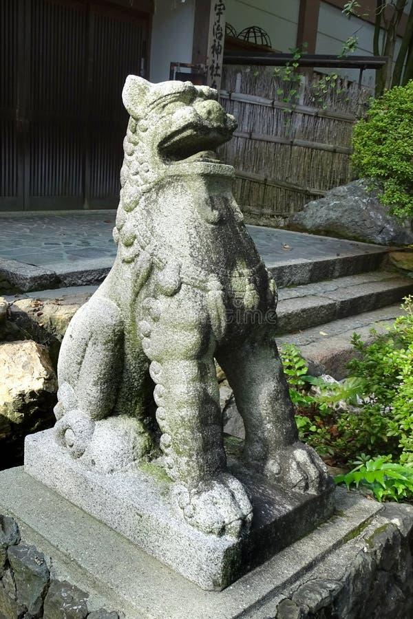 Santuário de Ujigami, um santuário xintoísmo na cidade de Uji na prefeitura de Kyoto, Japão imagem de stock royalty free