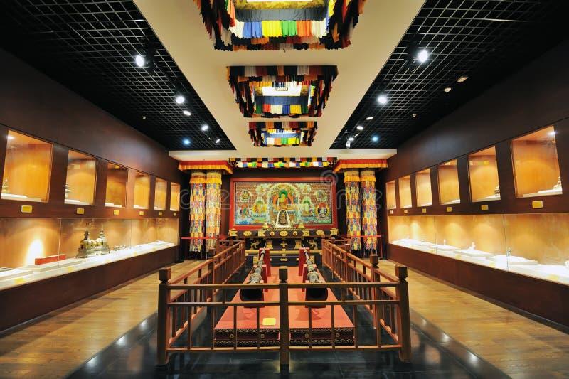Santuário do Buddhism tibetano fotografia de stock royalty free
