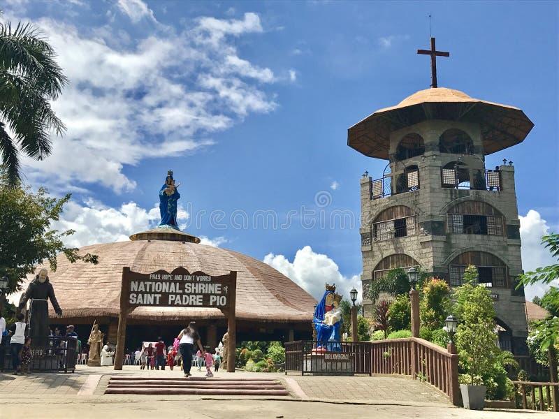 Santuário do capelão Pio de Saint foto de stock