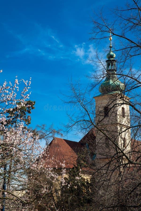 Santuário do infante Jesus de Praga no ¡ Strana de Malà na cidade velha em Praga fotografia de stock