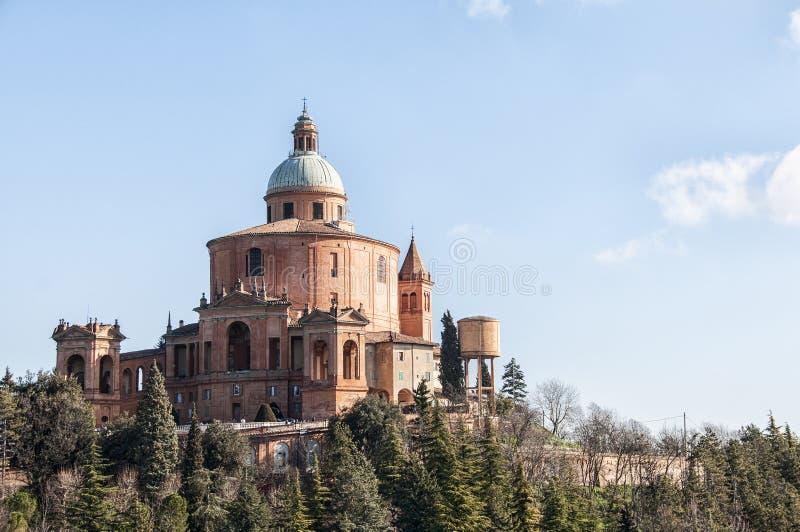 Santuário do Madonna di San Luca foto de stock