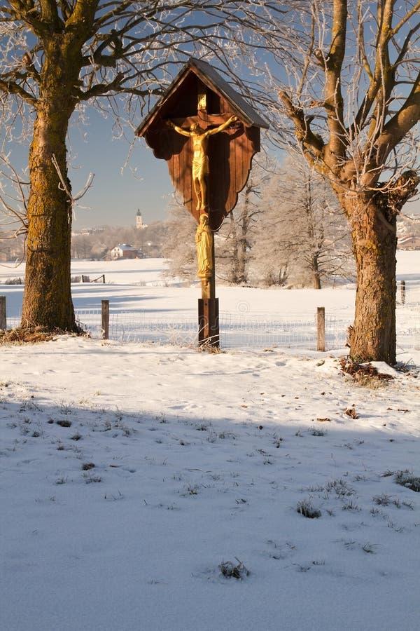 Santuário do Wayside em Baviera superior fotografia de stock