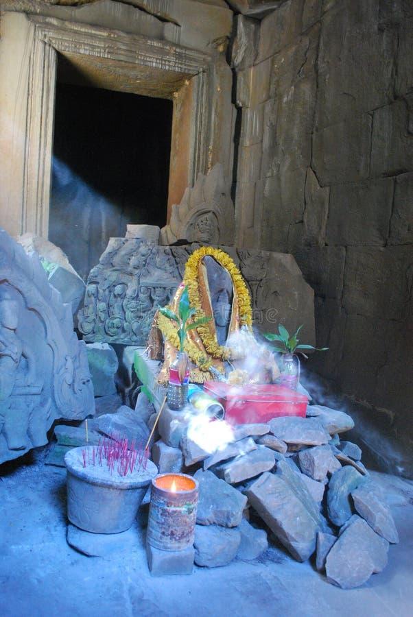 Santuário em Angkor Wat fotos de stock royalty free