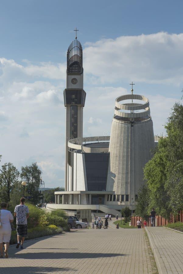 Santuário em Lagiewniki Basílica da mercê divina foto de stock royalty free