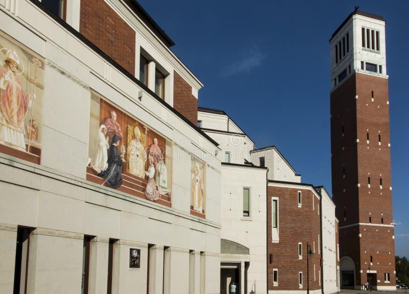 Santuário em Lagiewniki O centro do papa John Paul II foto de stock royalty free