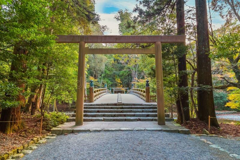 Santuário grande de Ise Jingu NaikuIse - santuário interno em Ise City, Mie Prefecture imagens de stock royalty free