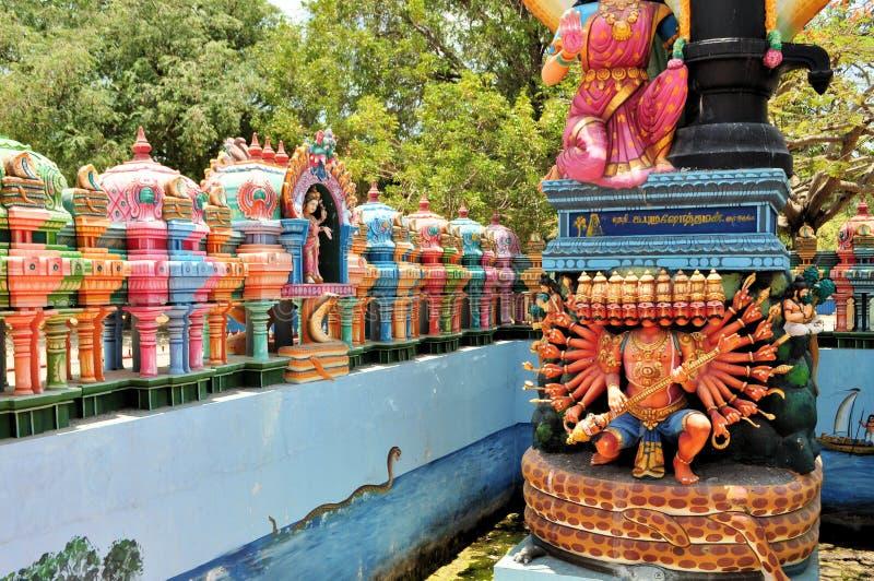 Santuário hindu no templo da ilha, Sri Lanka imagens de stock