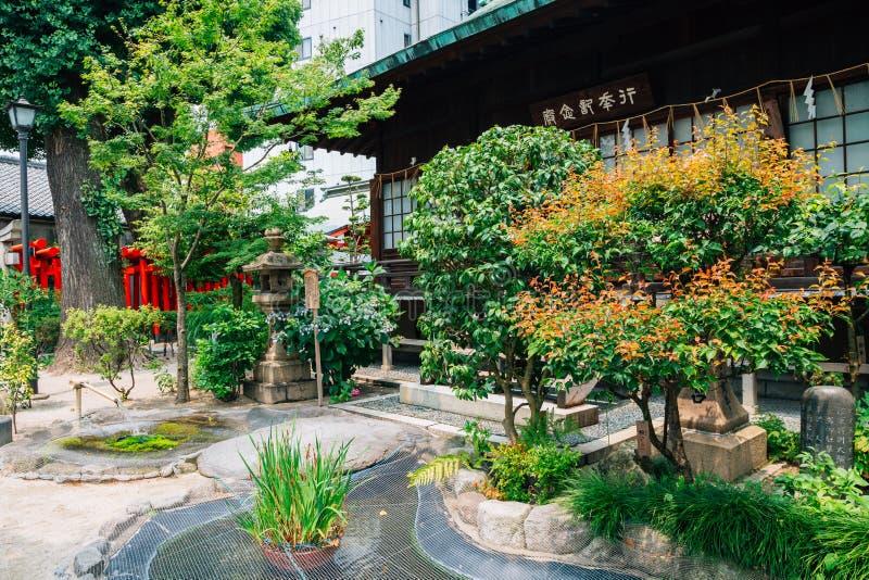 Santuário japonês de Kushida-jinja em Fukuoka, Japão fotografia de stock royalty free