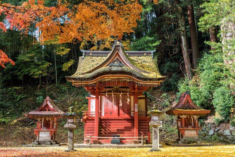 Santuário no outono, Nara Prefecture de Tanzan, Japão fotos de stock