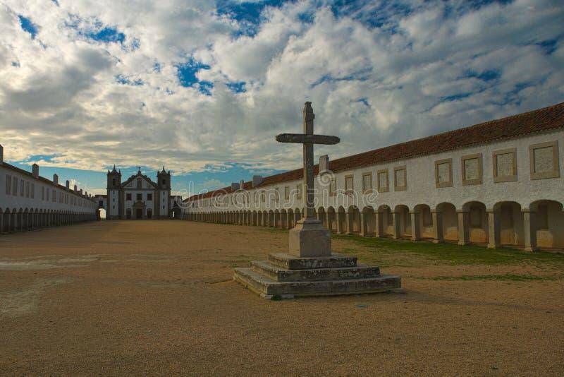 Santuà ¡里约de诺萨Senhora做Cabo Espichel 库存照片
