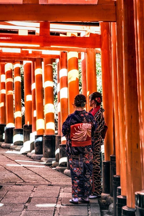 Santu?rio de Fushimi Inari Taisha em Kyoto, Jap?o fotos de stock