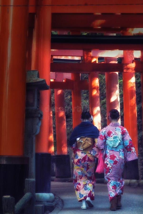 Santu?rio de Fushimi Inari Taisha em Kyoto, Jap?o imagens de stock