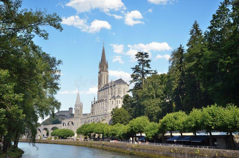 Santuari di Lourdes immagine stock libera da diritti