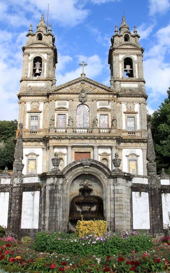 Santuario Bom Jesus do Monte, Braga, Portugal. The Santuario Bom Jesus do Monte (Shrine of Good Jesus of the Mountain) is a hilltop Catholic pilgrimage site just royalty free stock image