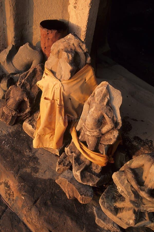 Santuario buddista Angkor Wat, Cambogia immagini stock libere da diritti