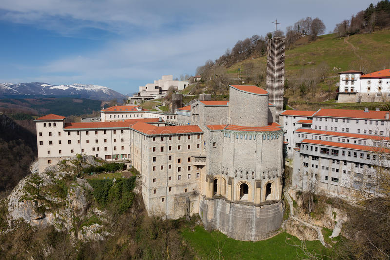 Santuario de Arantzazu fotografía de archivo libre de regalías