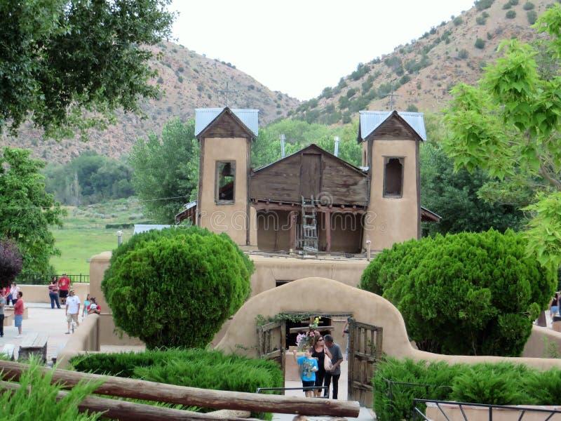 Santuario de Chimayo, Νέο Μεξικό στοκ εικόνα