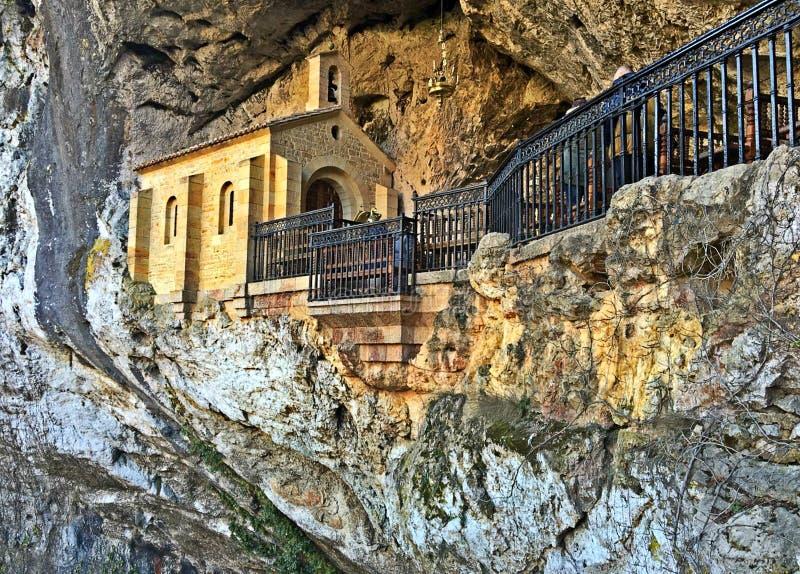 Santuario de Covadonga, as Astúrias na Espanha foto de stock royalty free
