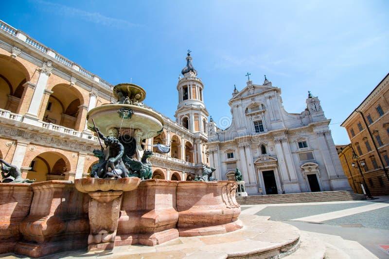 Santuario de la casa santa de Loreto imagen de archivo