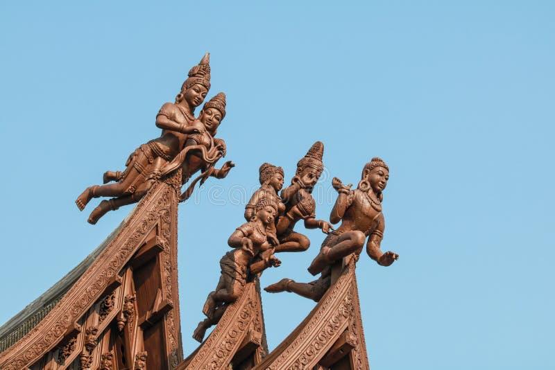 Santuario de la verdad en Pattaya imagenes de archivo