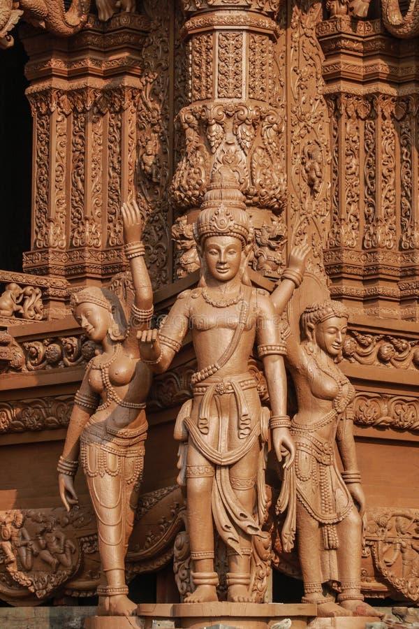 Santuario de la verdad en Pattaya imagen de archivo