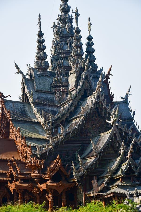 Santuario de la verdad en Pattaya, Tailandia foto de archivo