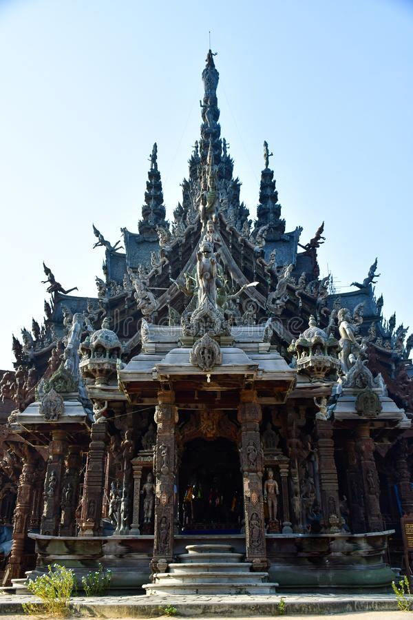 Santuario de la verdad en Pattaya, Tailandia imagen de archivo