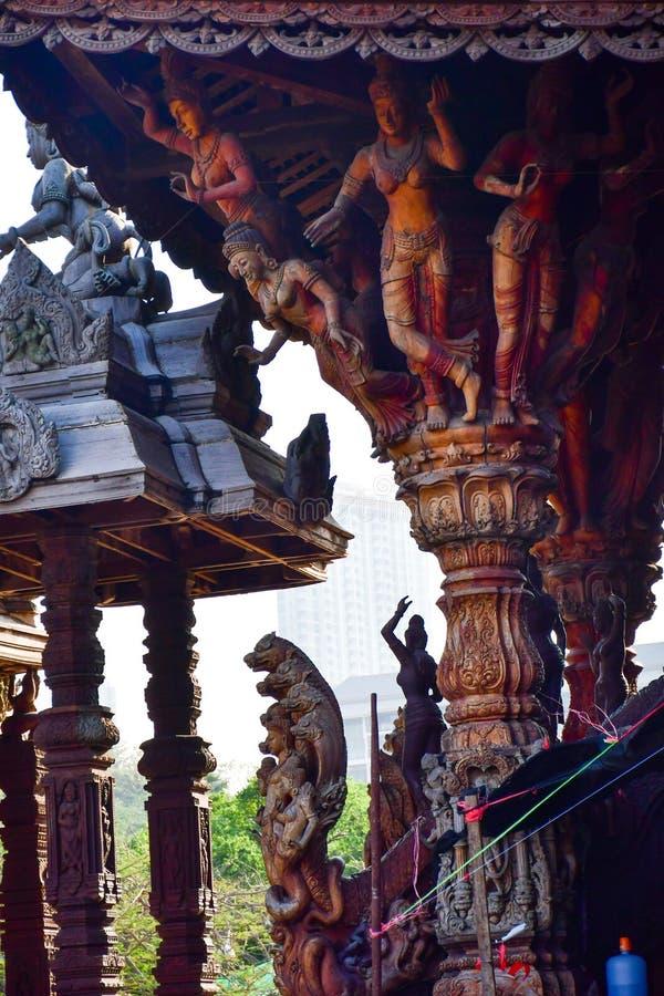 Santuario de la verdad en Pattaya, Tailandia foto de archivo libre de regalías