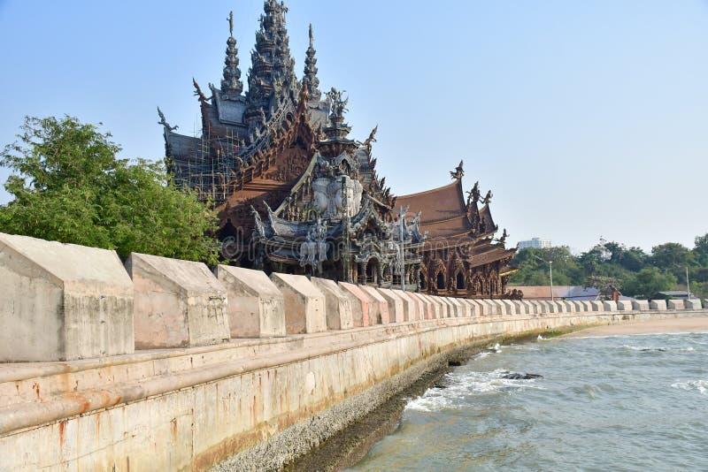 Santuario de la verdad en Pattaya, Tailandia fotografía de archivo libre de regalías