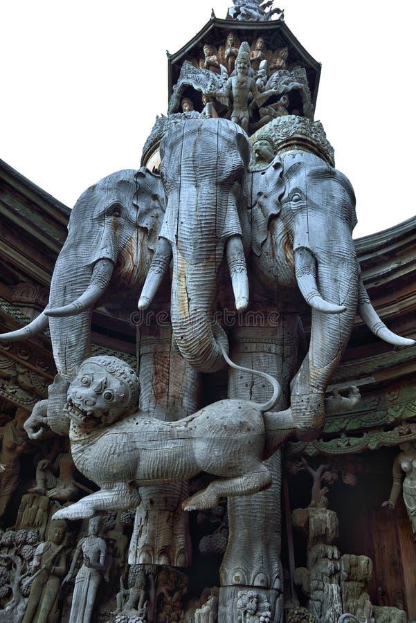 Santuario de la verdad, Pattaya imagenes de archivo