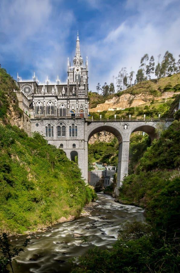Santuario de Las Lajas - Ipiales, Colombia imagen de archivo