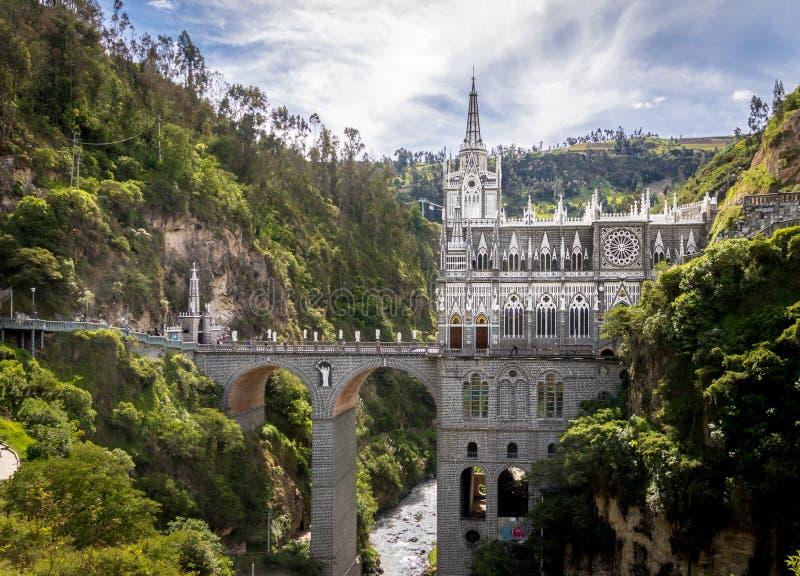 Santuario de Las Lajas - Ipiales, Colombia fotografía de archivo