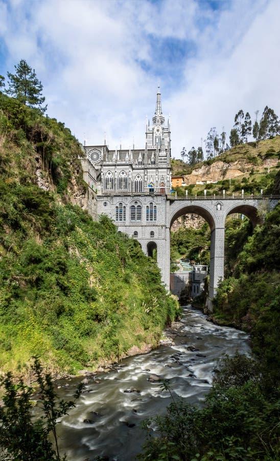 Santuario de Las Lajas - Ipiales, Colombia foto de archivo