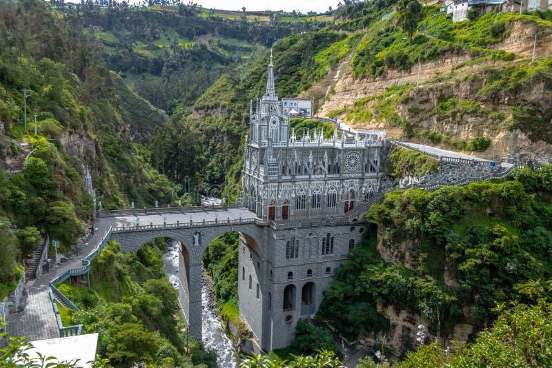 Santuario de Las Lajas - Ipiales, Colombia imagen de archivo libre de regalías