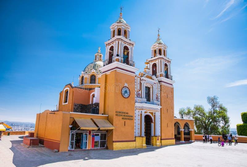 Santuario de los remedios, Cholula à Puebla, Mexique photos libres de droits