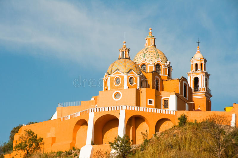 Santuario de los remedios, Cholula (Mexi photographie stock libre de droits