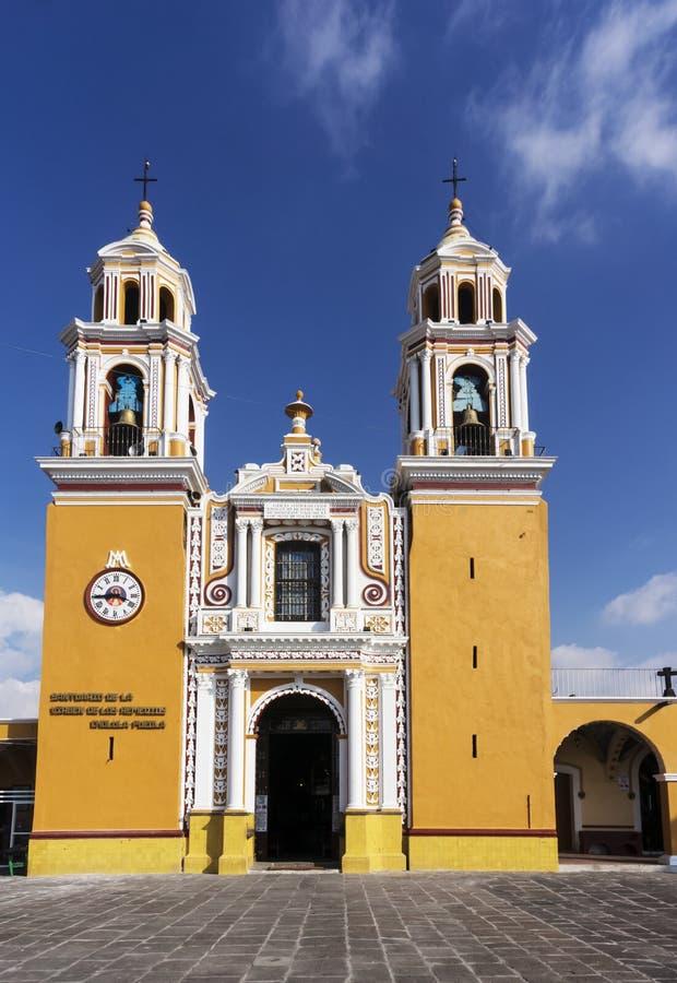 Santuario DE los remedios, Cholula, Puebla, Mexico royalty-vrije stock foto