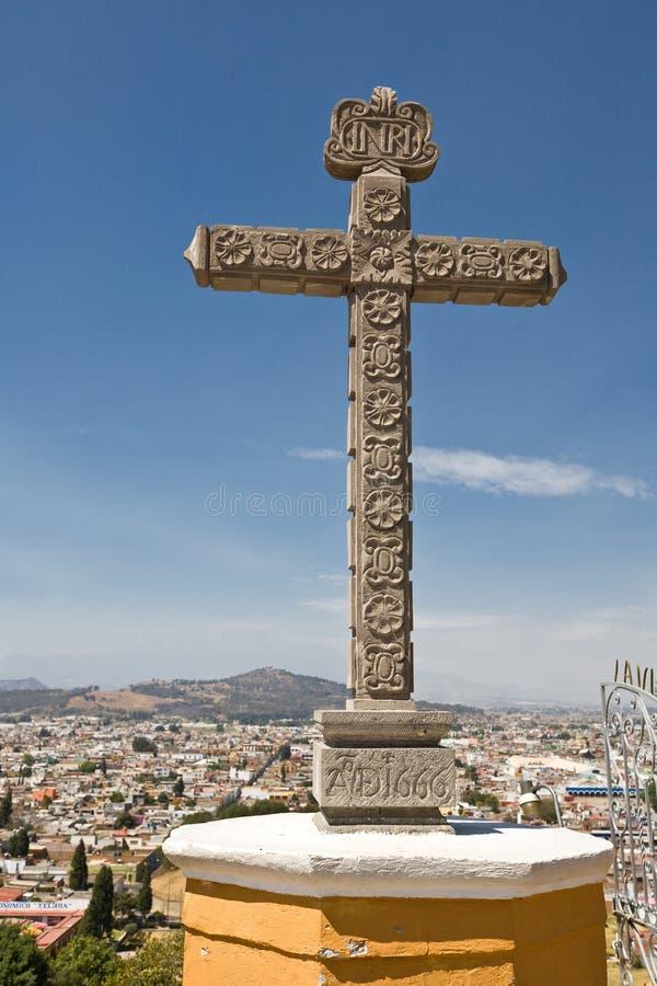 Santuario de los remedios, Cholula, Puebla (Mexique) photos libres de droits