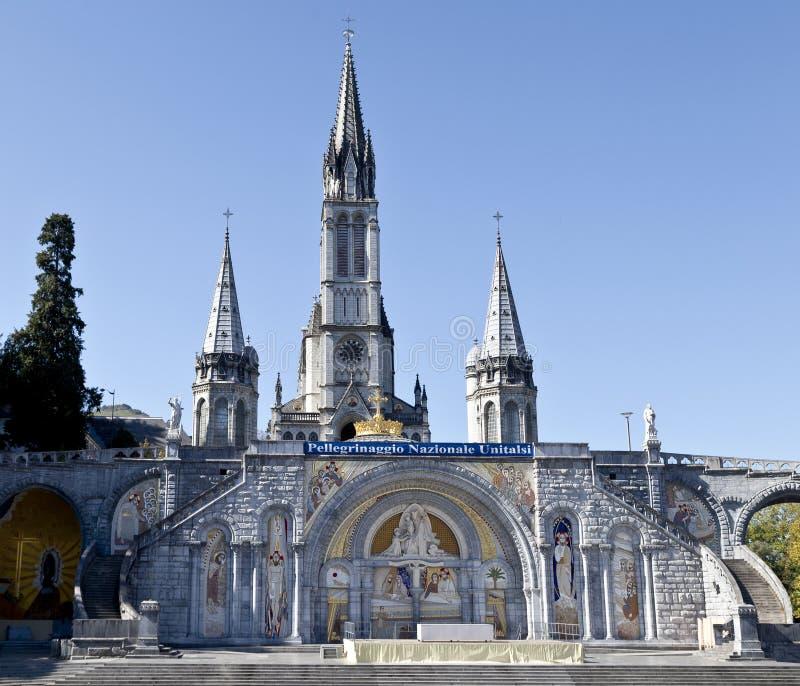Santuario de Lourdes imagenes de archivo