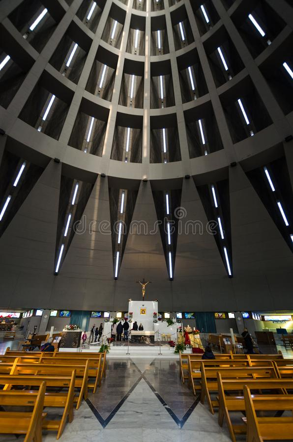 Santuario de Madonna de rasgones en Syracuse en Sicilia foto de archivo libre de regalías