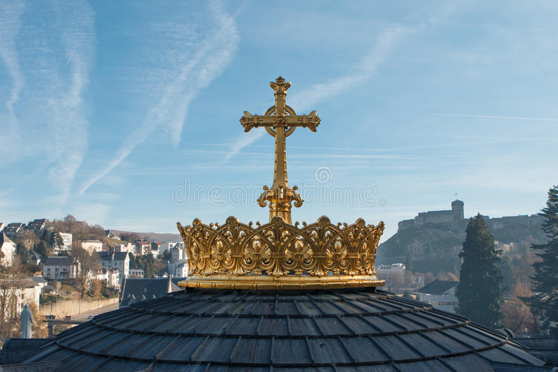 Santuario de nuestra señora de Lourdes imagen de archivo libre de regalías