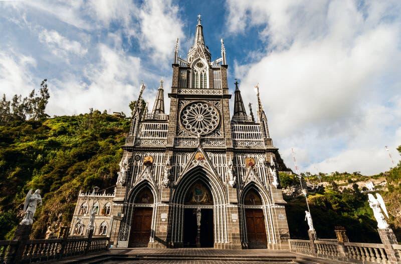 Santuario de nuestra señora, Las Lajas, Colombia imagen de archivo