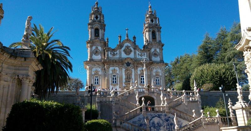 Santuario de nuestra señora de Remedios en Lamego, Portugal imagen de archivo