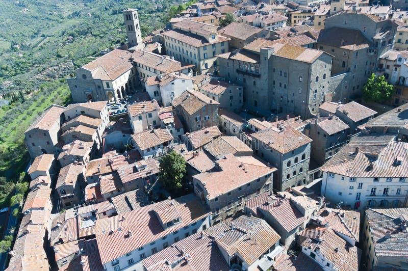 Santuario de Santa Margherita en Cortona, Toscana imagen de archivo libre de regalías