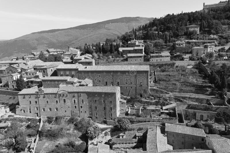 Santuario de Santa Margherita en Cortona, Toscana foto de archivo libre de regalías