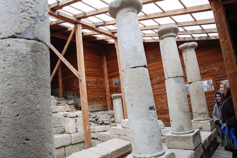 Santuario della Bulgaria Starosel Thracian immagine stock
